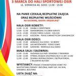 Sportowa sobota 3 marca z okazji dnia kobiet