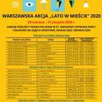 """Warszawska Akcja """"LATO W MIEŚCIE 2020"""""""